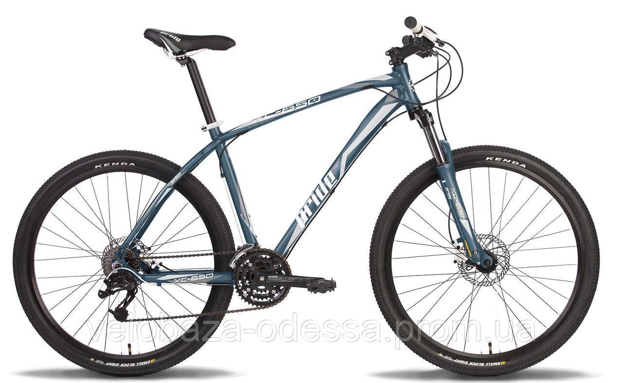 "Велосипед 27,5"" Pride XC-650 MD рама - 17"" серо-белый матовый 2014"