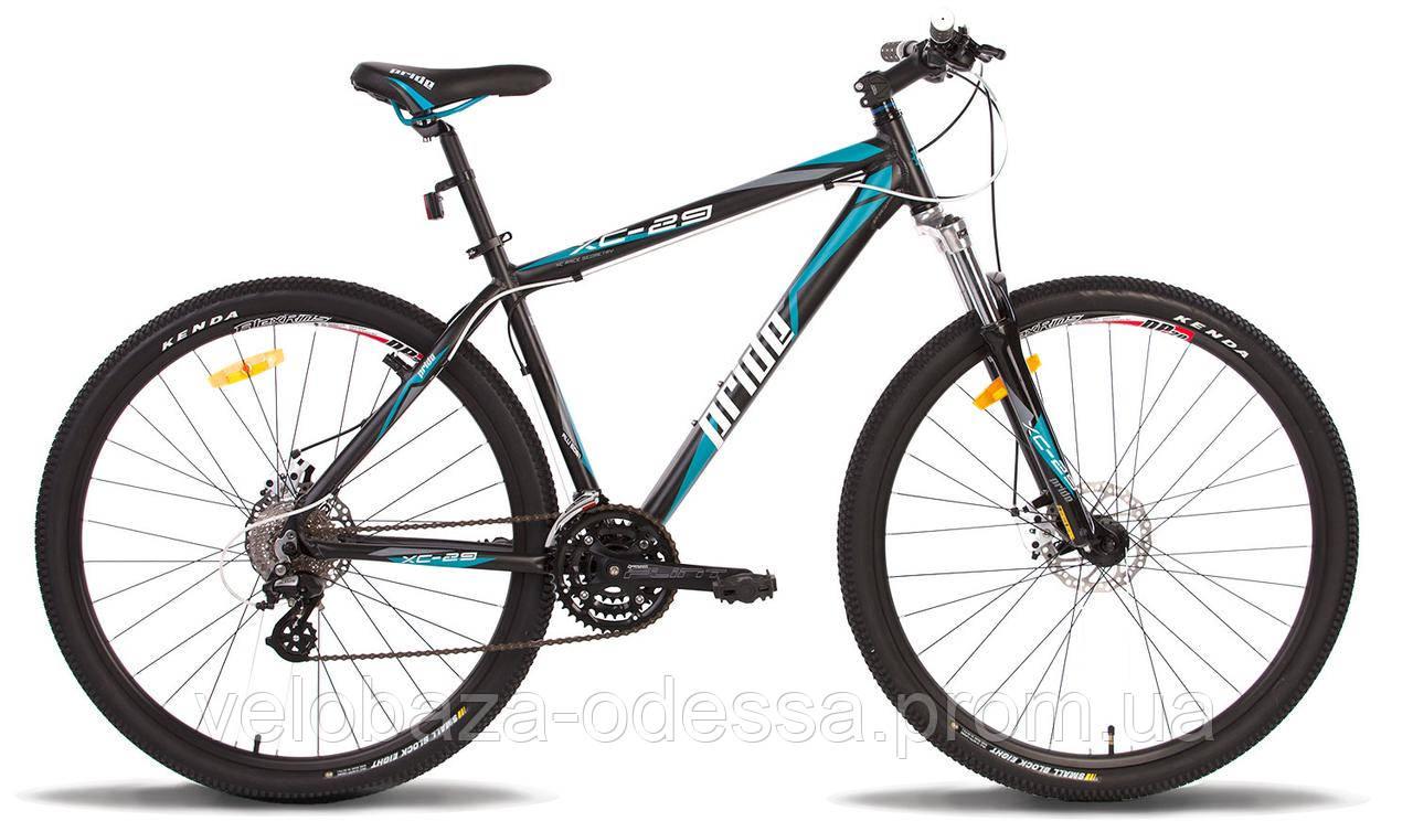 "Велосипед 29"" Pride XC-29 MD рама - 19"" черно-синий матовый 2014"