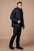 Куртка зимняя мужская качественная цвет темно-синий-черный модель 3570 (ОСТАЛСЯ ТОЛЬКО 46(S)), фото 3