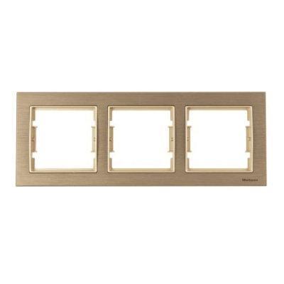 Рамка вертикальная 3-я ELITRA, Mutlusan, матовый бронзовый - сат. вн (2170 852 2390)