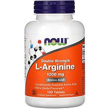 "L-Аргинин NOW Foods ""L-Arginine"" двойная сила, 1000 мг (120 таблеток)"