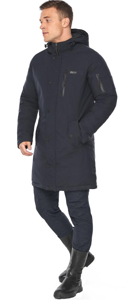 Куртка – воздуховик зимний для мужчин темно-синий модель 38012