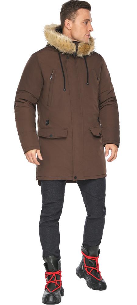 Куртка – воздуховик зимний мужской коричневый модель 45062