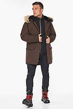 Куртка – воздуховик зимний мужской коричневый модель 45062, фото 3