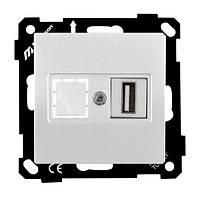 Механизм розетки 1-я  USB, ELITRA, Mutlusan, белый (2270 455 0101)