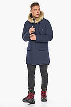 Куртка – воздуховик мужской синего цвета зимний модель 45062, фото 3