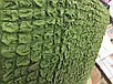 Чехол на Диван Трехместный Без оборки, Натяжной, Жатка-Креш, Универсальный Цвет Зеленый Concordia, фото 3