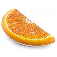 Надувной пляжный матрас Intex «Долька Апельсина», оранжевый, 178 х 85 см 58763, фото 3