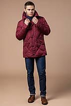 Стёганая мужская куртка зимняя красная модель 12481, фото 2