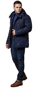 Теплая зимняя курточка мужская тёмно-синяя модель 12481