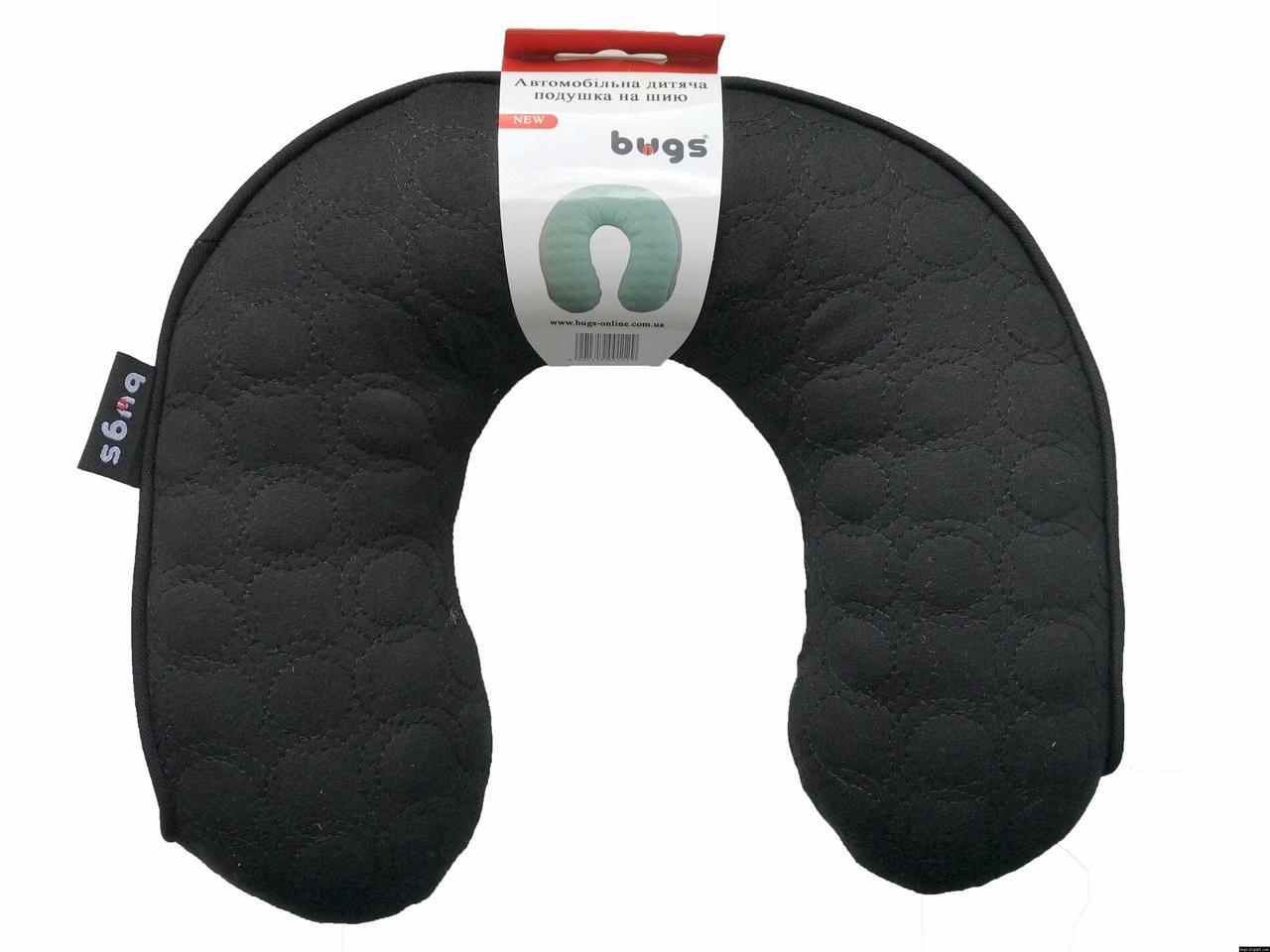 Bugs® Автомобільна дитяча подушка на шию (чорний)