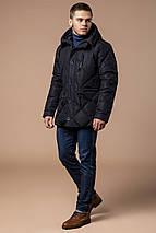 Современная мужская зимняя курточка чёрная модель 12481, фото 2