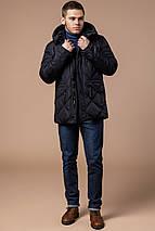 Современная мужская зимняя курточка чёрная модель 12481, фото 3