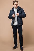 Світло-синя куртка для чоловіків зимова коротка модель 24534 розмір 46 (S), фото 2