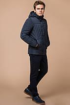 Світло-синя куртка для чоловіків зимова коротка модель 24534 розмір 46 (S), фото 3