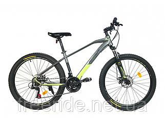 Гірський велосипед Azimut Gemini 26 D (15.5 рама) сіро-салатовий