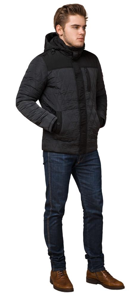 Куртка трендовая на зиму мужская графитовая модель 30538 (ОСТАЛСЯ ТОЛЬКО 46(S))