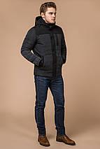 Куртка трендовая на зиму мужская графитовая модель 30538 (ОСТАЛСЯ ТОЛЬКО 46(S)), фото 2