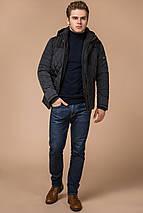 Куртка трендовая на зиму мужская графитовая модель 30538 (ОСТАЛСЯ ТОЛЬКО 46(S)), фото 3