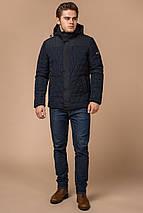 Стильная зимняя куртка мужская синяя модель 30538, фото 2