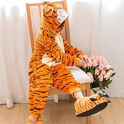 Детский Костюм Кигуруми, Пижама кингуруми Тигр для детей на взрослых детские пижамы кенгуруми взрослый