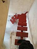 Каркас лестницы в стиле лофт, на центральном несущем косоуре. Монокосоур, фото 2