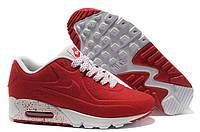 Кроссовки женские  Nike Air Max 90 VT Tweed (найк аир макс) красные