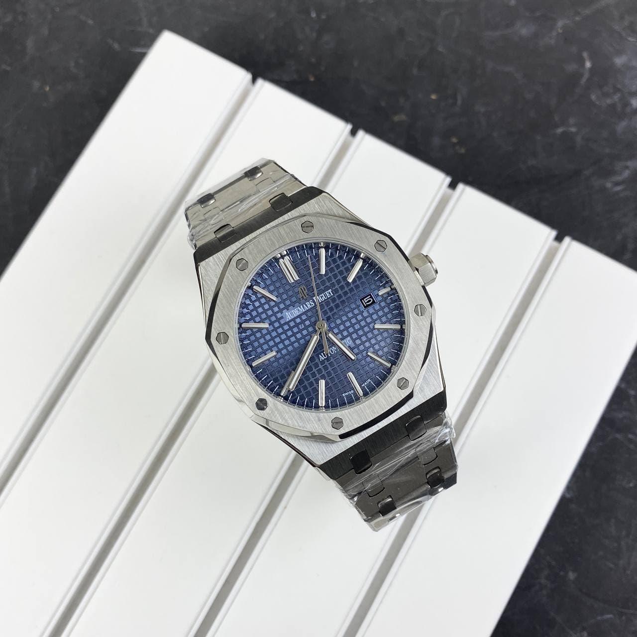Мужские наручные часы Audemars Piguet Royal Oak 0788 Silver-Blue