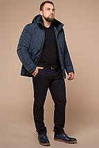 Модная зимняя куртка для мужчины светло-синяя модель 19121, фото 3