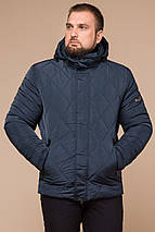 Модная зимняя куртка для мужчины светло-синяя модель 19121, фото 2