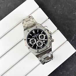 Мужские наручные часы Audemars Piguet Royal Oak Automatic Silver-Black