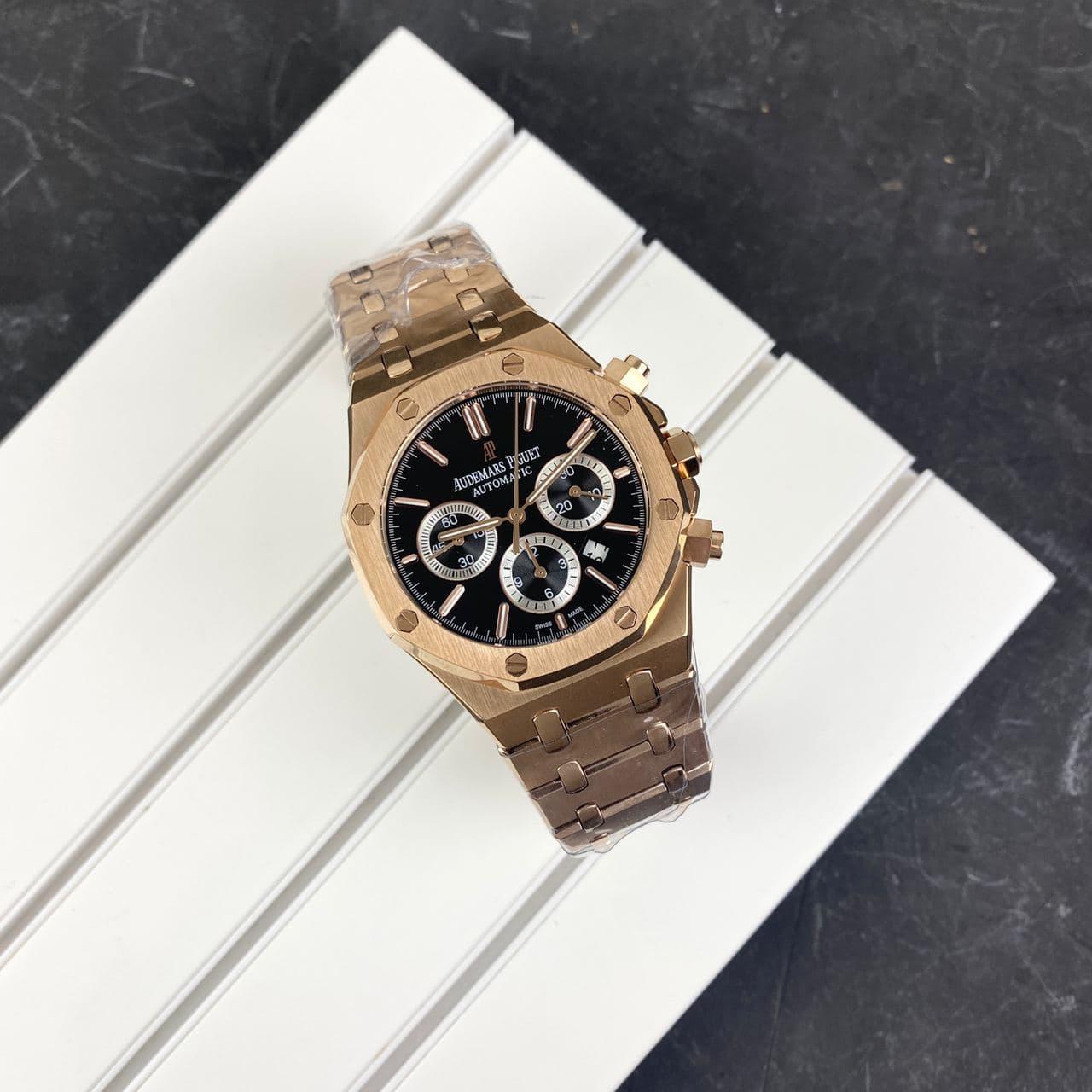Мужские наручные часы Audemars Piguet Royal Oak Automatic Gold-Black