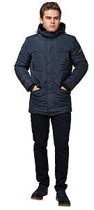Удобная зимняя курточка-тренд мужская светло-синяя модель 44842