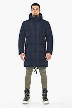 Темно-синяя куртка стильная зимняя мужская модель 23410 (ОСТАЛСЯ ТОЛЬКО 54(XXL)), фото 2