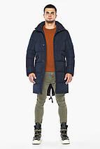 Темно-синяя куртка стильная зимняя мужская модель 23410 (ОСТАЛСЯ ТОЛЬКО 54(XXL)), фото 3