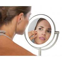 Зеркало двустороннее косметическое c подсветкой и увеличением LED HoMedics USA, фото 1