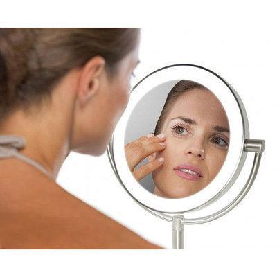 Зеркало двустороннее косметическое c подсветкой и увеличением LED HoMedics USA