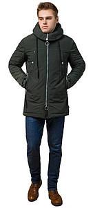 Парка для мужчин зимняя цвета хаки модель 28431 (ОСТАЛСЯ ТОЛЬКО 48(M))