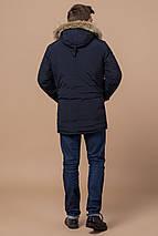 Чоловіча парку синя зимова модель 37560 розмір 54 (XXL), фото 3