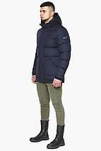 Зимняя куртка темно-синяя мужская с ветрозащитным клапаном модель 27544 (ОСТАЛСЯ ТОЛЬКО 46(S)), фото 2