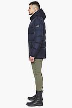 Зимняя куртка темно-синяя мужская с ветрозащитным клапаном модель 27544 (ОСТАЛСЯ ТОЛЬКО 46(S)), фото 3