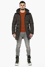 Куртка с карманами зимняя мужская цвет кофе модель 32045 (ОСТАЛСЯ ТОЛЬКО 56(3XL)), фото 3