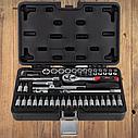 """Автомобильный набор инструментов для авто кейсы. Набор насадок торцевых и бит 1/4"""" 46шт CrV ULTRA (6003162), фото 5"""