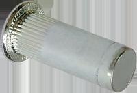 RFgr-Гайка клепальная закрытая М8/0,5-3 рифленая с плоской головкой D9 (250 шт/уп)
