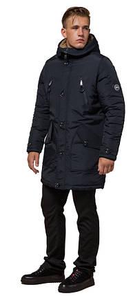 Черно-синяя парка мужская зимняя модель 96120, фото 2