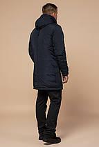 Черно-синяя парка мужская зимняя модель 96120, фото 3