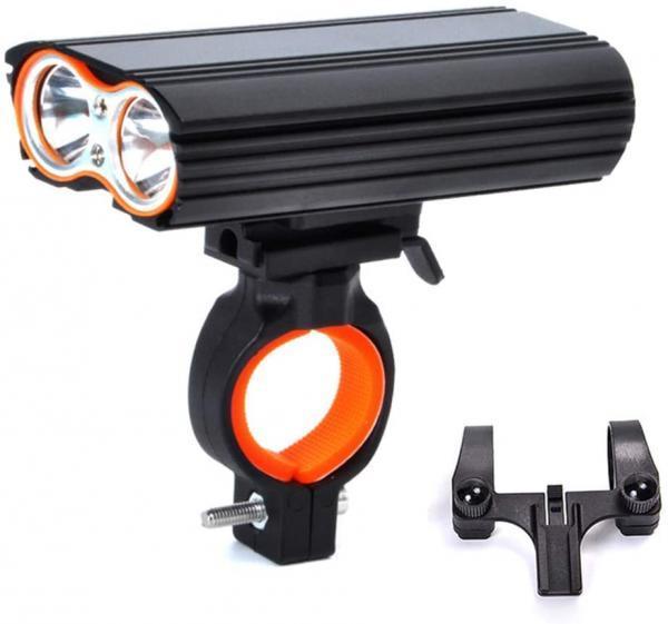 Фара передняя LR-Y2 Pro-2T6, Mega Light, индикатор заряда, аккум-р 4500 mAh, ЗУ micro USB