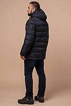 Сине-черная мужская куртка с кулиской зимняя модель 26402 (ОСТАЛСЯ ТОЛЬКО 46(S)), фото 3