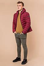 Бордовая мужская куртка на зиму модель 40962 (ОСТАЛСЯ ТОЛЬКО 50(L)), фото 2