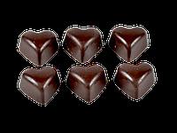 Шоколадное сердце с орехом, изюмом